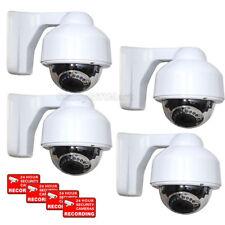 4 x Dome Security Camera 17 IR LEDs 3.5-8mm Lens 700TVL Outdoor Night Vision CRH