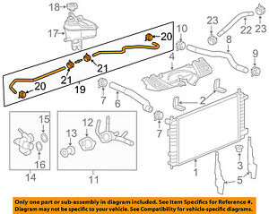 Chevrolet GM OEM 12-13 Impala 3.6L-V6 Radiator-Upper Inlet Hose 20994172