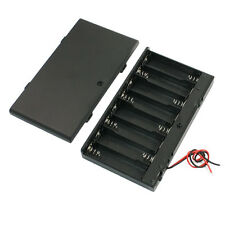 Spring Loaded 8 x 1.5V AA Battery Case Holder Box Storage w Cover LW