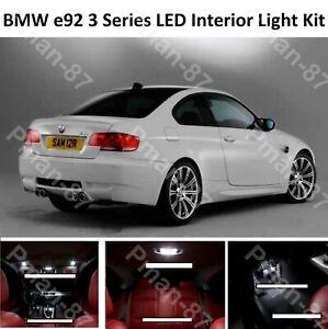 QUALITY BMW 3 SERIES E92 INTERIOR PURE WHITE FULL UPGRADE LED LIGHT BULBS KIT