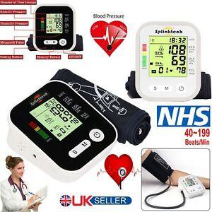 Digital Automatic Blood Pressure Monitor Upper Arm Meter Intellisense 180 Memory
