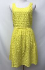 Old Navy Size 8 Dress Yellow Eyelet