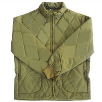 Mens Field Jacket Liners Warm Inner Quilted Khaki High Neck Jacket US XS-XL