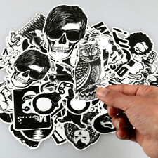 60pcs Black and White Sticker Bomb Decal for Car Skate Skateboard Laptop Luggage
