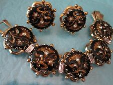 RARE...Kramer New York 1950's Victorian Style Bracelet Earrings Set-17