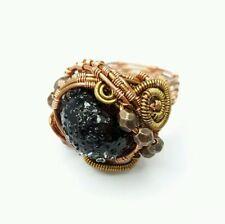 Handmade Glass Copper Costume Rings