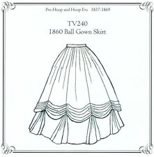 Sewing Pattern for 1860's Ball Gown Skirt Truly Victorian TV240 new uncut