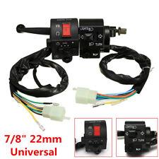 "12V Universal 7/8"" Motorcycle Handlebar Horn Turn Signal Start Switch For Suzuki"