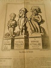HD 3204 Caricature DAUMIER 1868 The statues of the future Eustache Mitrallard