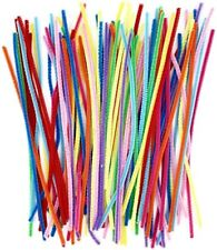 Pipe Cleaners 100 Pcs 10 Colors Chenille Stems (6 mm x 12 Inch)