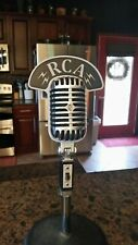 Vintage Style RCA Call Sign Flag Plate for Shure 55 55SW 55SH PE55 Microphone
