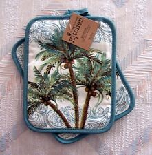 Palm Trees Pot Holder Set Kay Dee Key West Pattern