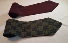 Lot of 2 Giorgio Armani Men's Designer Ties, Made in Italy