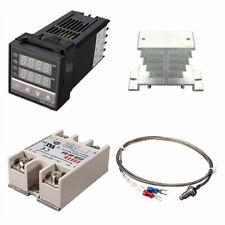 Pid Rex C100 Temperature Controller Ssr 40da K Thermocouple Heat Sink Kit Us New