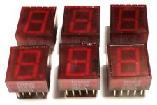 "LED 7-SEGMENT DISPLAY RED 0.5"" RH-Decimal - FND500 - *UNUSED* *NOS* - Qty:6"