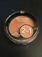 NEW Revlon Colorstay 2 In 1 Compact Makeup & Concealer  #310 WARM GOLDEN