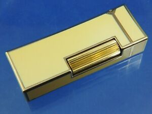 Vintage Swiss Dunhill Rollagas Lighter Yellow Lacquer Serviced Superb