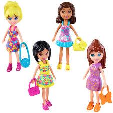 Polly Pocket Set of 4 Dolls: Floral Fashion SHANI, LILA, POLLY & CRISSY