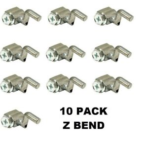 """10 Pack Universal Cable Wire Stop Z Bend  0.080""""  Diameter Rotary 14819"""