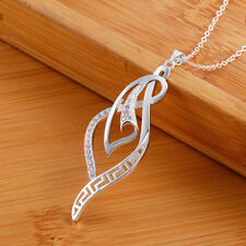925 sterling Silver plated jewelry fashion women wedding Party crystal necklace