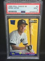 DEREK JETER 1995 UPPER DECK COLLECTOR'S CHOICE SE ROOKIE #2 PSA 9 YANKEES HOF MT