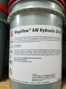 Phillips 66 Megaflow AW 46 Hydraulic Oil; 5 gallon pail; R&O compatible