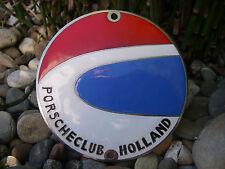 schwere, alte PORSCHE CLUB HOLLAND Mitglieder Plakette Car Badge Lüftüngsgitter