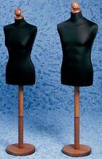 Busto Expo Busti Manichini per Sartoria Uomo o Donna Base Tonda Legno + Testina