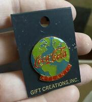 Vintage Coca Cola Atlanta Globe Pin Gift Creations Inc.