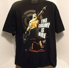 John Cena WWE 2007 The Champ is Here Black T-Shirt SZ XXL 2 Sided   VGC