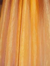 2 blickdichte Vorhänge Gardinen Voile sonnengelb Ösen B/H 140 x 145 cm