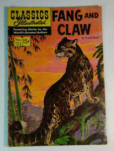 Classics Illustrated 123 HRN 154 Fang and Claw by Frank Buck 1954