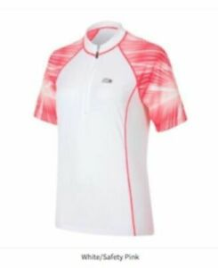 Louis Garneau Women's Apex 2 Cycling Jersey White/Safety Pink Medium New