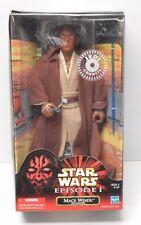 "Star Wars MACE WINDU Jedi Episode I 12"" Action Figure 1/6th scale NIP"