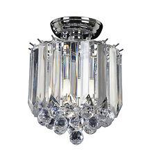 Endon Fargo flush ceiling light 2x 40W Chrome effect plate & clear acrylic