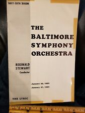 1952 Baltimore Symphony Orchestra,Reginald Stewart,The Lyric,Advertising