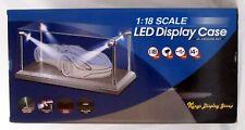 Vitrine LED 1:18 Vitrine für Modellautos, 4 LED Strahlern Plexiglas/silber T9
