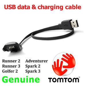 Genuine TomTom Runner 2 3 Golfer 2 Spark 2 3 Adventurer USB charging data cable