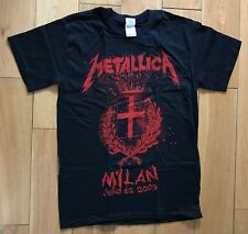 More details for metallica show your scars one city at a time milan italy 2009 t shirt m  new