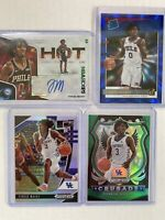 4 Card Lot 20-21 TYRESE MAXEY 76ERS RATED ROOKIE Blue Lazer #22/49, Hoops Auto!