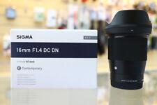 Sigma 16mm f/1.4 DC DN Contemporary Lens for Sony E ZP