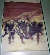 Vintage 1979 Frank Frazetta WITCH WOMEN Scythe Fantasy Poster Fairfax Prints MIP