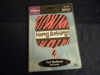 Fun Novelty Foil Balloons Happy Birthday Pink 18in Birthday Party ~Free Gifts