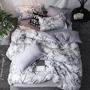 Ink Wash Painting Bedding Set Duvet Quilt Cover+Sheet+Pillow Case Four-Piece New