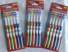 Iodent Family Value Pack Adult Soft Toothbrushes 5 Pack Lot of 3 NEW