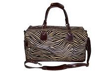 MONTGOMERY Marrone Zebra Print PELLICCIA Weekend ZAINETTO VIAGGIO PALESTRA Real GENUINE LEATHER BAG