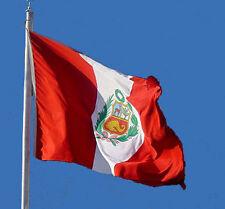 NEW 3 x 5 ft PERU PERUVIAN FLAG WITH BRASS GROMMETS