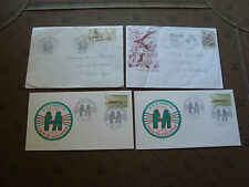 FRANCE - 4 enveloppes 1983 1986 1986 1987 (cy16) french