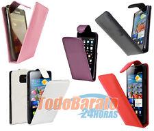 Funda Cuero piel Samsung Galaxy S 2 II S2 i9100 negra roja rosa etc