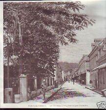 1890  --  FORT DE FRANCE  RUE SAINT LOUIS AVANT INCENDIE